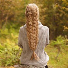 Triple french braids