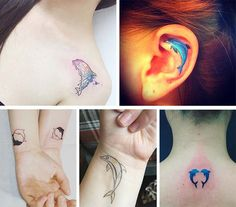 Cute Small Tattoos For Girls With Their Meanings: Tiny Dolphin Tattoos