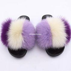 Furry Boots, Faux Fur Boots, Fluffy Slides, Summer Flats, Slipper Sandals, Womens Flip Flops, Cute Sandals, Fur Slides, Fox Fur