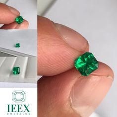 IEEX Emeralds - exquisite 0.85 carat Emerald -  square cut, the material is totally natural and untreated, and like all no oil stones hard to come by, excellent cut and colour with lots of fire, this is true Gem quality.  Email - info@ieex.com.co Colombian Emeralds, Cut And Color, Artisan, Stones, Gems, Fire, Colour, Natural, Color