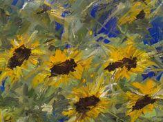 Artwork >> Arturo Arboleda Restrepo >> #sunflowers of a bright night  #artwork, #oil, #painting, #masterpiece, #contemporary, #beauty, #extraordinary