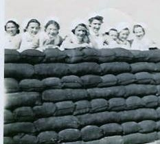 Mary Loving and fellow army nurses WWII 1943