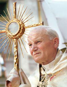 Pope John Paul II -- now a saint Saint Jean Paul Ii, Pape Jean Paul Ii, St John Paul Ii, Saint John, Paul 2, Saint Joseph, Pope John, Pope Francis, Catholic Saints