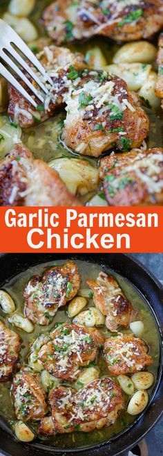 Buttery Garlic Parmesan Chicken – amazing skillet chicken with garlic and Parmesan cheese. Made with simple ingredients but SO good | rasamalaysia.com