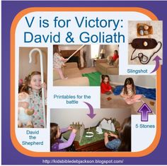 Preschool Alphabet: V is for Victory for David & Goliath