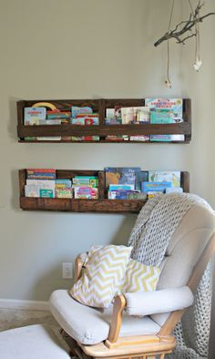 Nursery Ideas Pallet Bookshelves I Will Be Making These Soon Love Thisss