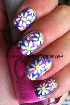 Girly Bits: Flower Power nail art