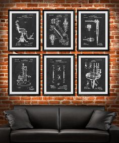 Dentist Chair Patent Patent Print Wall Decor Dentist Office