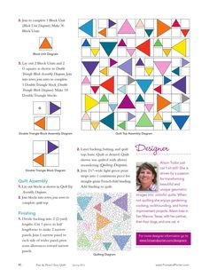 Easy Quilts Spring 2013 by New Track Media - issuu Lap Quilts, Patchwork Quilting, Scrappy Quilts, Small Quilts, Mini Quilts, Quilt Blocks, Quilting Tutorials, Quilting Projects, Quilting Designs