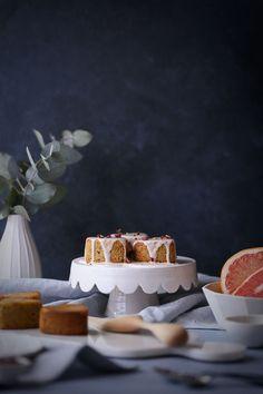Lemon Rose Pistachio Cakes + Grapefruit Glaze (gf) - The Polka Dotter
