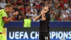 Bayer-Frust: Admir Mehmedi beim 2:2 gegen Moskau