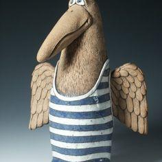 Ptáci Ceramic Animals, Sculpture, Gallery, Future Tense, Blue Prints, Ceramic Birds, Pottery Animals, Roof Rack, Sculptures