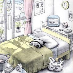 Japanese Characters, Cute Characters, Panda Kawaii, Kawaii Anime, Panda Drawing, Panda Art, Kawaii Illustration, Panda Love, Housekeeping