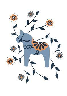 Horse Art, Instagram Shop, Animal Design, Artsy Fartsy, Christmas Time, Illustration, Folk Art, Art Decor, Scandinavian