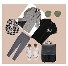 """spring is coming :)"" by boyo-bolortsetseg on Polyvore featuring MANGO, ssongbyssong, Converse, Ray-Ban, women's clothing, women's fashion, women, female, woman and misses"