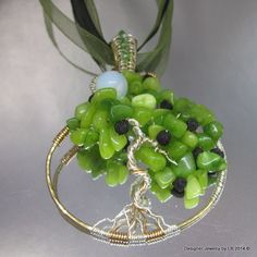 Moon in the Peridot Tree of Life Pendant 30%OFF