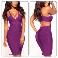 Purple Bandage Dress  Evogueclothing.bigcartel.com