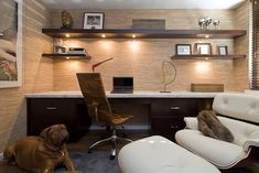 Office - contemporary - home office - new york - Nirmada Interior Architectural Design    ****like shelves***
