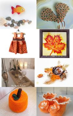 Pumpkin Leaves by midnightcoiler on Etsy--Pinned+with+TreasuryPin.com