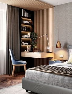 Projects - USA contemporary home decor and mid-century modern lighting ideas fr. - Projects – USA contemporary home decor and mid-century modern lighting ideas from DelightFULL Modern Master Bedroom, Master Bedroom Design, Master Bedrooms, Trendy Bedroom, Minimalist Bedroom, Guest Bedrooms, Bedroom Designs, Bedroom Study Area, Hotel Bedroom Design