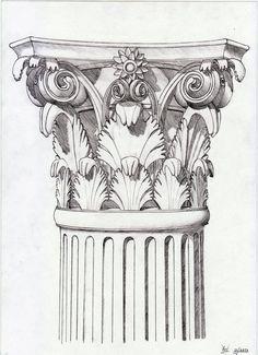 Corinthian capital sketch by xenonnati