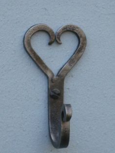 hand forged heart hook