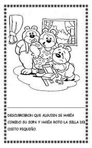 Laminas Del Cuento Dibujos Del Cuent Ricitos De Oro Cuento Ricitos De Oro Risitos De Oro