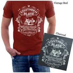 Limited Edition Whatever Cranks Yer Tractor Southern Plate T-Shirts!  To celebrate SouthernPlate.com's upcoming Birthday,these gorgeous shirts are available to order for a short period of time.  But you have to hurry because I'm only taking orders through July 11th! Price is $20 and shipping is free.