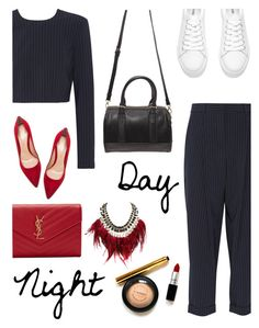 """""""Day to Night Style"""" by dira-purwanto ❤ liked on Polyvore featuring DKNY, Gianvito Rossi, Yves Saint Laurent, Forever 21, WithChic and daytoevening"""