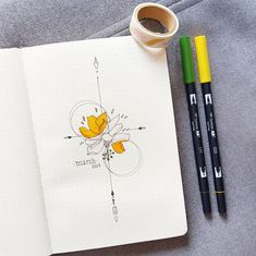 Finally had the time to set up my March spread! I went for sunny yellow with som… Finally had the time to set up my March spread! I went for sunny yellow with some flowery tattoo inspirations 🌼🌼🌼 : bulletjournal Bullet Journal Designs, Bullet Journal Month, Bullet Journal Cover Page, Bullet Journal Notebook, Bullet Journal Aesthetic, Bullet Journal School, Bullet Journal Layout, Bullet Journal Ideas Pages, Journal Covers