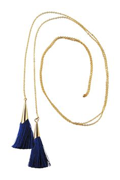 Tassel Lariat Necklace by Rebecca Accessories on @HauteLook