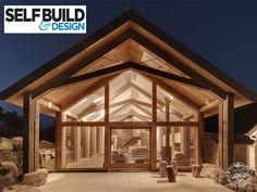 Green oak extension featured in Self Build Magazine April 2014. Details green oak extension costs and process. Oak extensions from Carpenter Oak Ltd.