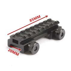 "See Through AR Flat top 1/2"" inch Riser Base w/Picatinny/Weaver Scope Rail 20MM  Mount 8 slot Med-Profile Picatinny Weaver"