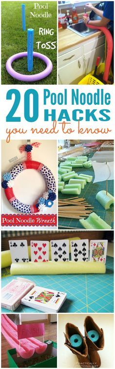 20 Pool Noodle Hacks You Need to Know! Great Tips and Tricks for Summertime!