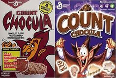 The Evolution of American Cereal Box Design.  Man, I loved Count Chocula.  (I prefer the older design. I don't understand why the new design changes the emphasis to count instead of chocula, or how they managed to make the count look even more derpy.)