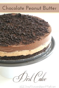 Low Carb Gluten-Free Chocolate Peanut Butter Dirt Cake Recipe