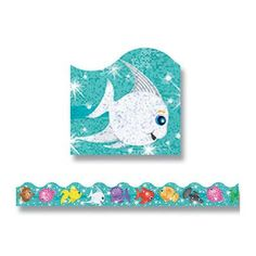 Trend Enterprises Trimmer Sparkle Fish Classroom Border (Set of 2)