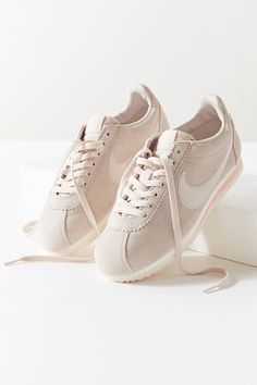 Nike Classic Cortez Suede Sneaker, Tan | Urban Outfitters #sneakers #beige #neutral #nikeshoes #fashion