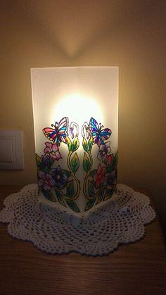 Lámpara de Ikea decorada