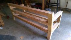 DIY Modern Rustic Outdoor Sofa Inspired by RH Merida - Gray Table Home