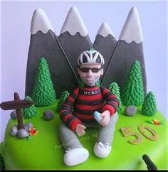 Mountain Bike Cake, Mountain Climbing, Dad Birthday, Happy Birthday, Rock Climbing Party, Bike Cakes, Cupcake Cookies, Cupcakes, Cakes For Men