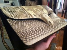 Vintage Snake Skin Clutch Snake Venom, Reptile Skin, Python, Aquarius, Snake Skin, Purses And Bags, Style Me, Zip Around Wallet, Skinny