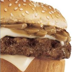 Hardee's Copycat Mushroom Swiss Burger Recipe ~ 5 star by 31 people