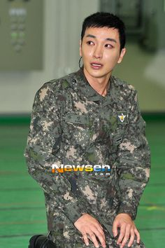 Leeteuk practice for filming :'(