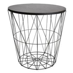 Wire basket storage, wire storage, table storage, black room decor, black r Wire Basket Storage, Wire Storage, Table Storage, Wire Baskets, Black Room Decor, Black Rooms, Kmart Decor, Home Decor Kitchen, Decoration
