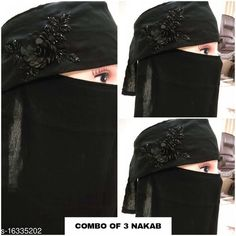 Hijabs Women's Handwork Naqab Parda For Islamic Abaya And Burkha Nosepiece Fabric: Chiffon Multipack: 1 Sizes:  Country of Origin: India Sizes Available: Free Size   Catalog Rating: ★4.3 (491)  Catalog Name: Aagyeyi Refined Hijabs CatalogID_2733868 C72-SC1578 Code: 755-16335202-
