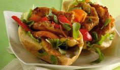 Ανοιχτά σάντουιτς με φιλέτο κοτόπουλου και μανιτάρια Cookbook Recipes, Cooking Recipes, Ratatouille, Sandwiches, Tacos, Mexican, Chicken, Eat, Ethnic Recipes