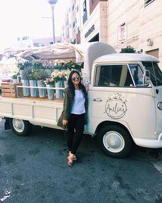 The prettiest flower truck - Amelia's Flower Truck in the Gulch.