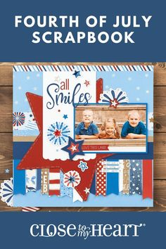 We have all the products you need to create an American-themed, Fourth of July scrapbook! #scrapbooking