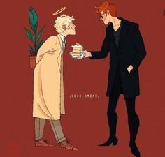 """""""What's behind your back, Angel? Save me. Good Omens Book, Michael Sheen, Fandom Crossover, Terry Pratchett, This Is A Book, Angels And Demons, Cartoon Movies, David Tennant, Crowley"""
